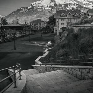 Stairways to mountain